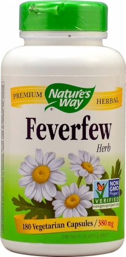 Nature's Way Feverfew Herb Capsules 380mg Perspective: front