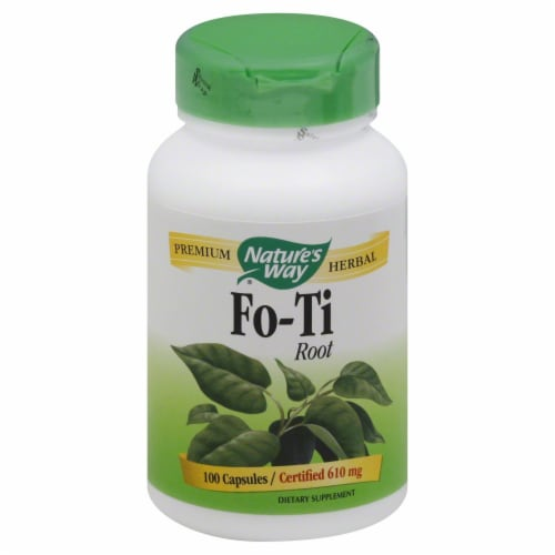 Nature's Way Fo-Ti Root Capsules 610mg Perspective: front