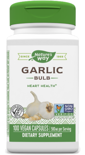 Nature's Way Garlic Bulb Capsules 580mg Perspective: front