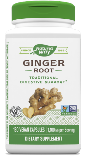 Nature's Way Ginger Root Capsules Perspective: front