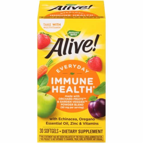 Nature's Way Alive! Everyday Immune Health Dietary Supplement Softgels Perspective: front