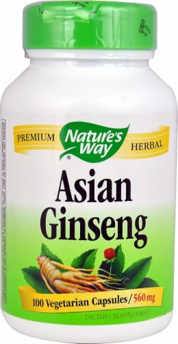 Nature's Way Asian Ginseng 560 mg Perspective: front