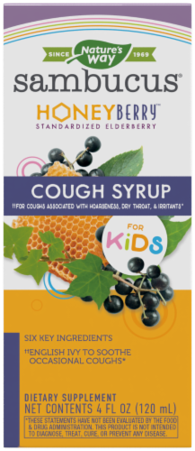 Nature's Way Sambucus Honey Berry Kids' Cough Syrup Perspective: front