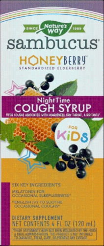 Nature's Way® Sambucus Honey Berry Kids' Nighttime Cough Syrup Perspective: front