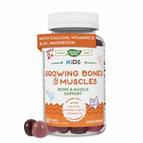 Nature's Way Kids Growing Bones & Muscles Vitamin Gummies Perspective: front
