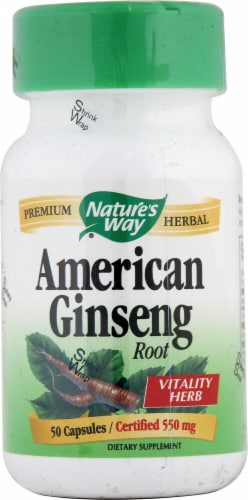 Nature's Way  American Ginseng Root Perspective: front