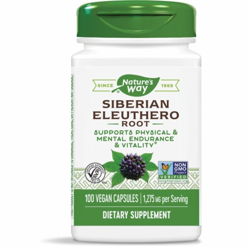 Nature's Way Siberian Eleuthero Root Capsules 425 mg Perspective: front