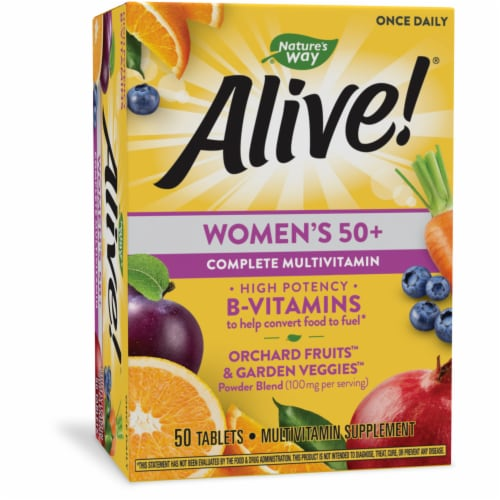 Nature's Way Alive! Women's 50+ Complete Multivitamin Tablets Perspective: front