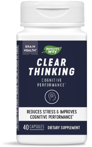 Nature's Way Clear Thinking Dietary Supplement Perspective: front