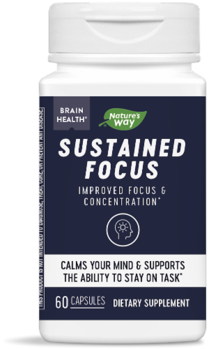 Nature's Way Sustained Focus Dietary Supplement Perspective: front
