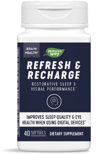 Nature's Way Refresh and Recharge Softgels Perspective: front