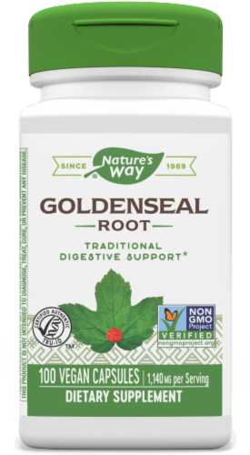 Nature's Way Goldenseal Root Capsules 570 mg Perspective: front