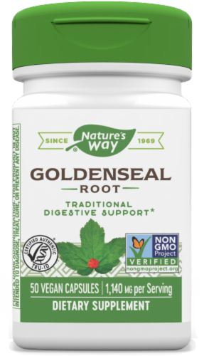 Nature's Way Goldenseal Root Capsules Perspective: front