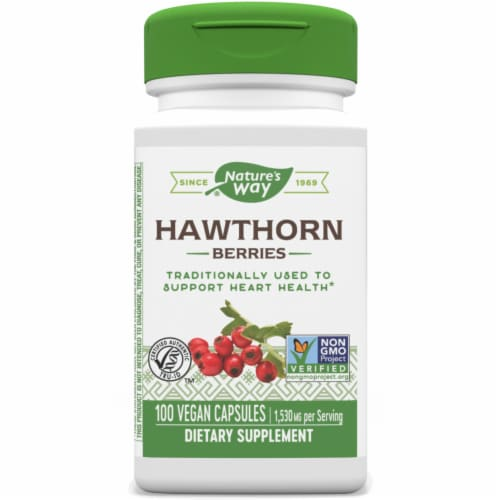 Nature's Way Hawthorn Berries Capsules 510 mg Perspective: front