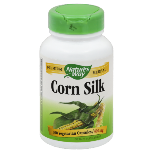 Nature's Way Corn Silk Vegetarian Capsules Perspective: front