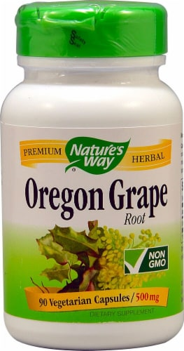 Nature's Way Oregon Grape Root Capsules 500mg Perspective: front