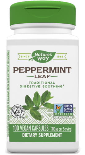 Nature's Way Peppermint Leaves Capsules 400 mg Perspective: front