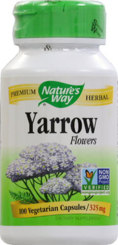 Nature's Way Yarrow Flowers Capsules Perspective: front