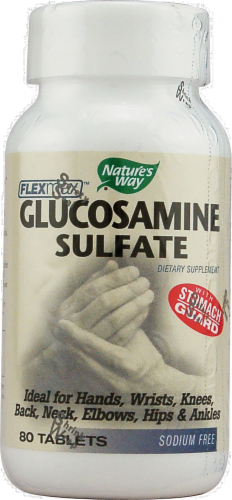 Nature's Way Glucosamine Sulfate Tablets Perspective: front