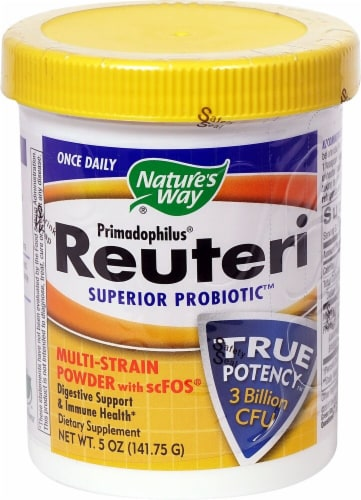 Nature's Way Primadophilus Reuteri Superior Probiotic Dietary Supplement Powder Perspective: front