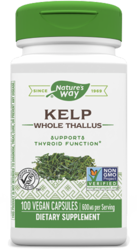 Nature's Way Kelp Capsules Perspective: front