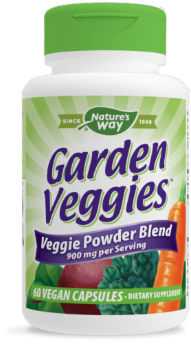 Nature's Way Garden Veggies Life & Energy Vcaps Perspective: front