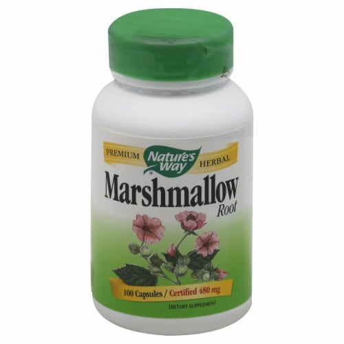 Nature's Way Marshmallow Root Capsules Perspective: front