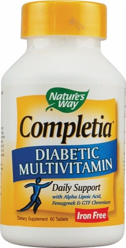 Nature's Way  Completia® Diabetic Multivitamin Iron Free Perspective: front