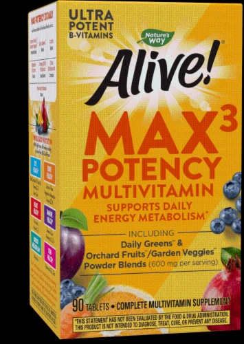 Nature's Way Alive! Whole Food Energizer Multi-Vitamin Tablets Perspective: front