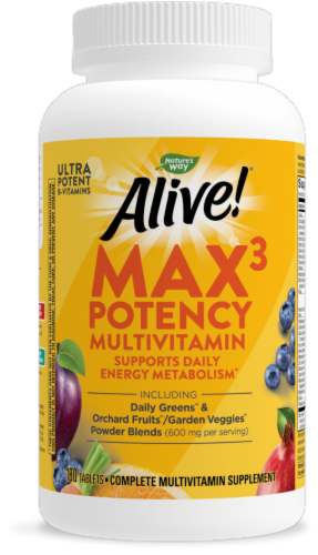 Nature's Way Alive! Multivitamin Max Potency Tablets Perspective: front