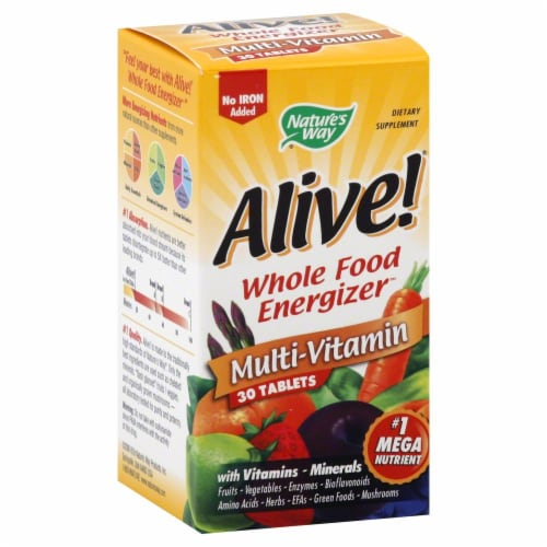 Nature's Way Alive! Iron-Free Multivitamin  Tablets Perspective: front