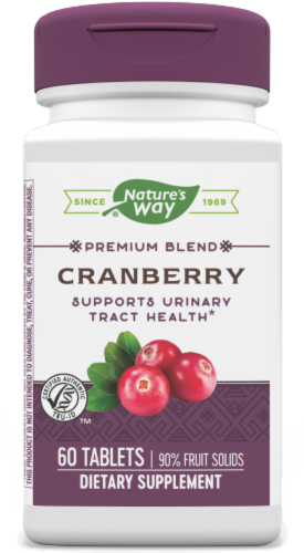 Nature's Way Cranberry Standardized Tablets Perspective: front