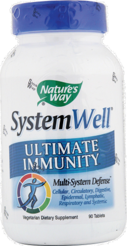 Nature's Way System Well Ultimate Immunity Supplement Tablets Perspective: front