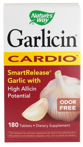 Nature's Way Garlicin® Cardio Odor Free Tablets Perspective: front