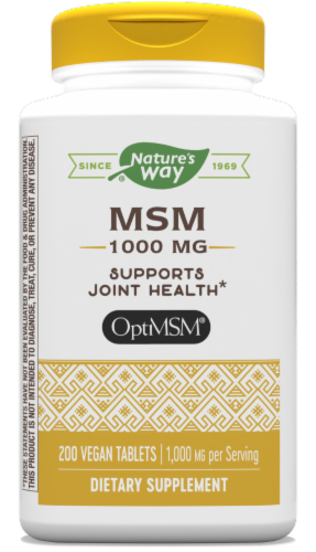 Nature's Way MSM 1000 mg Tablets Perspective: front