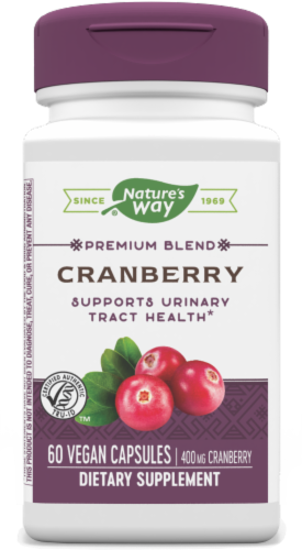 Nature's Way Cranberry Standardized Capsules Perspective: front