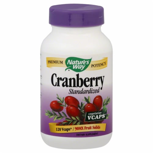 Nature's Way Cranberry Standardized V-Caps Perspective: front