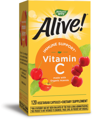 Nature's Way Alive! Fruit Source Vitamin C Vegetarian Capsules Perspective: front