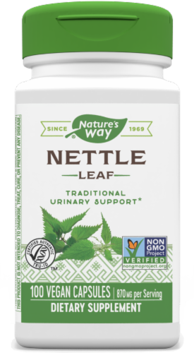 Nature's Way Nettle Leaf Capsules 870 mg Perspective: front