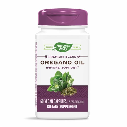 Nature's Way Standardized Oregano Oil Liquid Vcaps Perspective: front