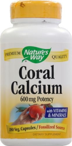 Nature's Way Coral Calcium Capsules Perspective: front