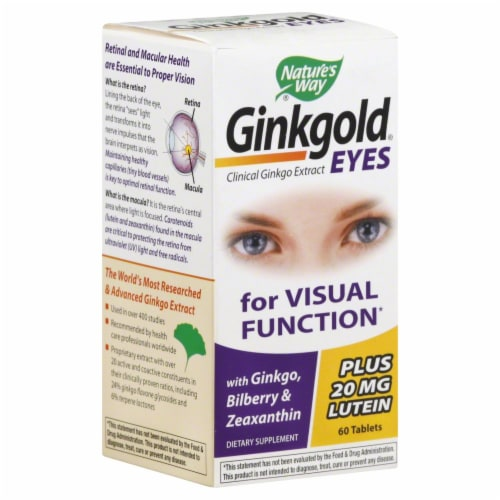 Natures's Way Ginkgold Eyes for Visual Function Tablets Perspective: front