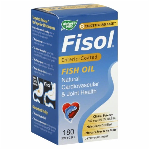 Nature's Way Fisol Fish Oil Softgels Perspective: front