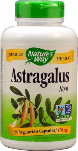 Nature's Way Astragalus Root Capsules 470mg Perspective: front
