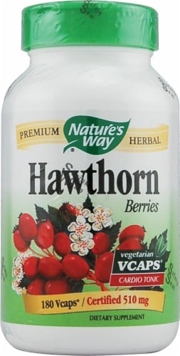 Nature's Way Hawthorn Berries 510 mg Perspective: front