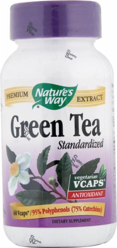 Nature's Way Green Tea Standardized Extract Capsules Perspective: front