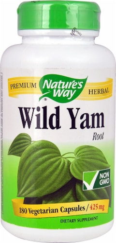 Nature's Way Wild Yam Root 425 mg Vegetarian Capsules Perspective: front