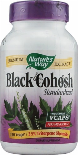 Nature's Way Black Cohosh Standardized Capsules Perspective: front