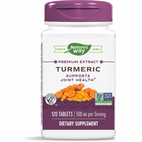 Nature's Way Turmeric Tablets Perspective: front