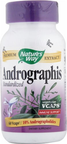 Nature's Way Andrographis Standardized Vegetarian Capsules Perspective: front